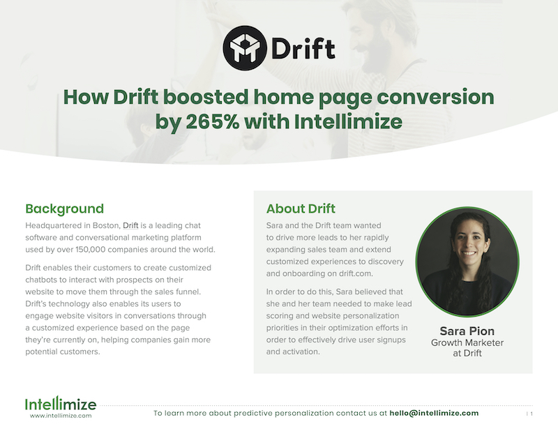 Click to view Drift Case Study blog