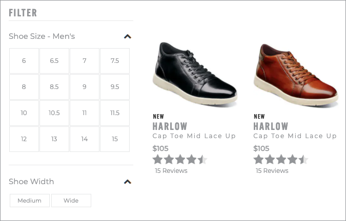 Product Filter Options